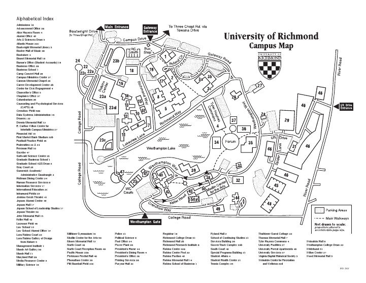 University Of Richmond Map The Shakespeare Project |